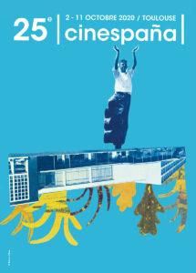Affiche Cinespaña 2020 bleue